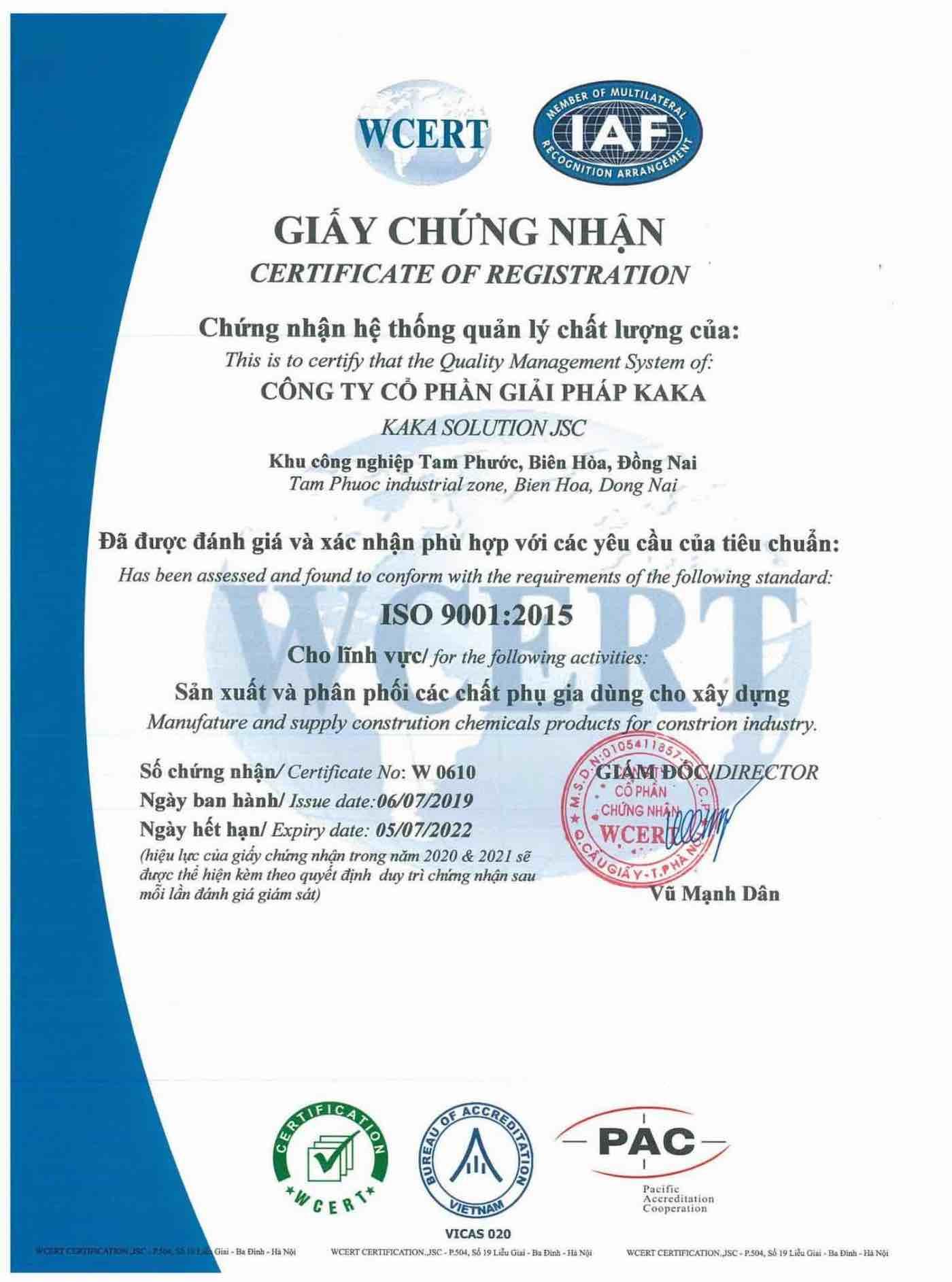 Glue – KKS Additive Certification